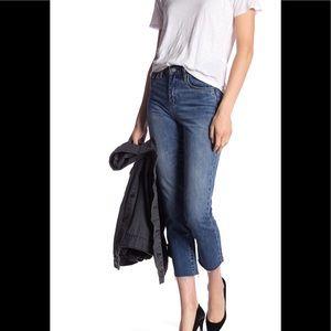BLANKNYC Denim The Madison Raw Hem Cropped Jeans